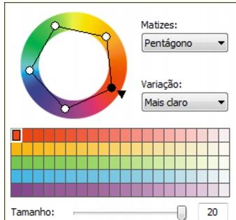 Photo Paint loc color harmonies Escolher cores