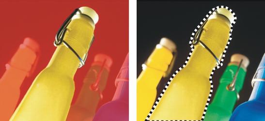Photo Paint mask overlay Distinguir áreas protegidas e editáveis