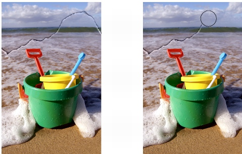 Photo Paint ret touchupbrush Remover marcas de poeira e risco