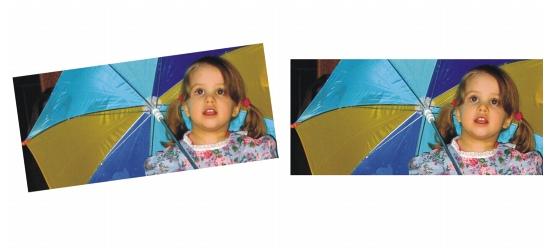 Photo Paint straighten sample Endireitar imagens