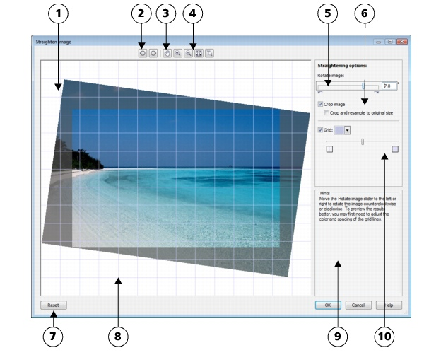 Photo Paint loc bitmaps straighten2 Straightening images
