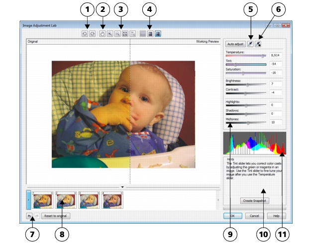 Photo Paint loc corr ia lab sg23 Using the Image Adjustment Lab