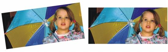 Photo Paint straighten sample Straightening images