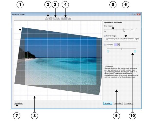 Photo Paint loc bitmaps straighten2 Enderezamiento de imágenes