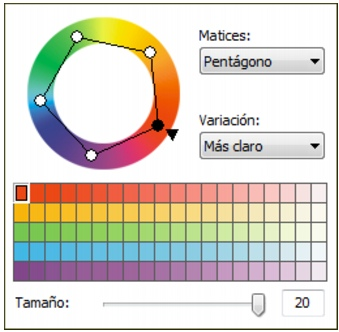Photo Paint loc color harmonies Elección de colores