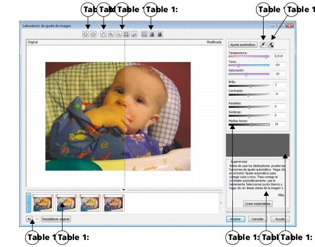 Photo Paint loc corr ia lab sg27 Utilización del Laboratorio de ajuste de imagen