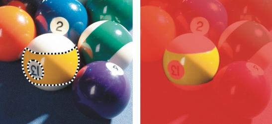 Photo Paint mask sel adj color Definición de áreas editables utilizando la información de color