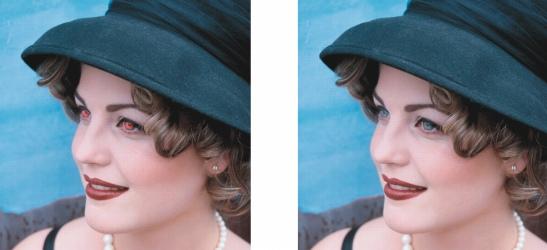 Photo Paint ret redeye Corrección del efecto de ojos rojos