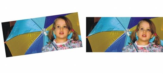 Photo Paint straighten sample Enderezamiento de imágenes
