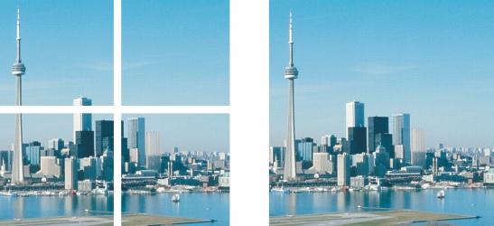 Photo Paint crop stitch Assemblage d'images