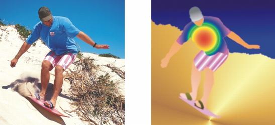 Photo Paint fill gradient Application de surfaces dégradées progressives