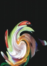 Photo Paint fx distort swirl Galerie des types d'effets spéciaux.