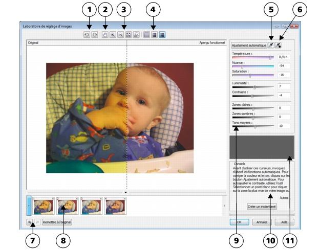Photo Paint loc corr ia lab sg28 Utilisation du laboratoire de réglage d'images