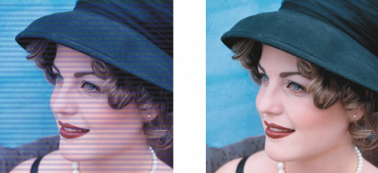 Photo Paint ret deinterlace Miglioramento di immagini acquisite mediante scanner