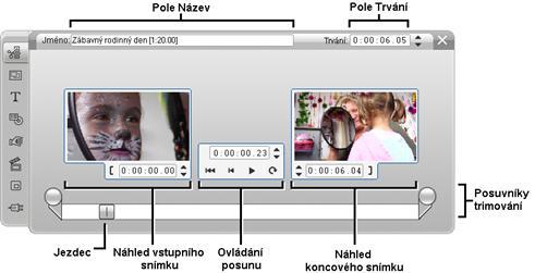 Pinnacle Studio image002 Trimování pomocí nástroje Vlastnosti klipu