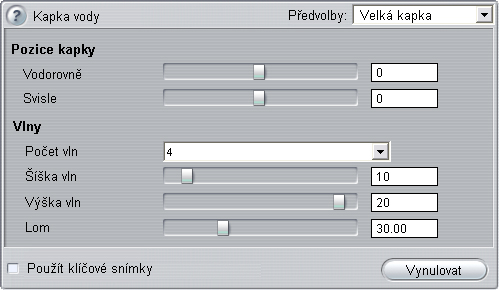 Pinnacle Studio image001 Změna parametrů efektů