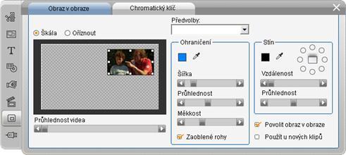 Pinnacle Studio image003 Nástroj Obraz v obraze