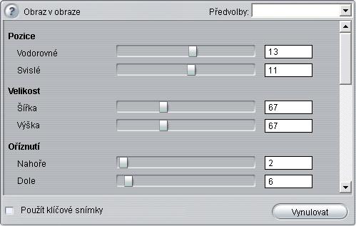 Pinnacle Studio image007 Nástroj Obraz v obraze