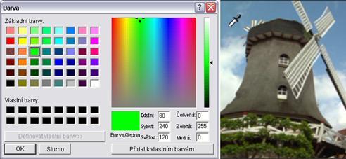 Pinnacle Studio image002 Výběr barev