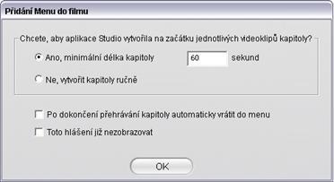 Pinnacle Studio image002 Použití menu z alba