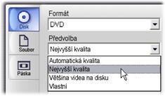 Pinnacle Studio image003 Výstup na disková média