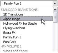 Pinnacle Studio image002 Sektionen Overgange