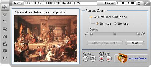 Pinnacle Studio image002 Redigering med værktøjet klip egenskaber