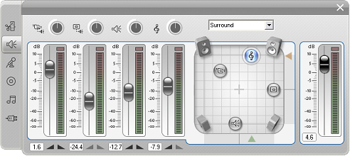 Pinnacle Studio image002 Værktøjet Lydstyrke og balance