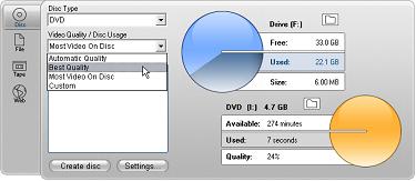 Pinnacle Studio image001 Udkørsel til disk medie