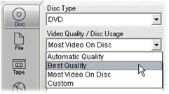 Pinnacle Studio image003 Udkørsel til disk medie