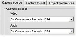 """Pinnacle Studio image001 """"Videoenhed ikke fundet"""" fejlmeddelelse vises i optagemodus"""
