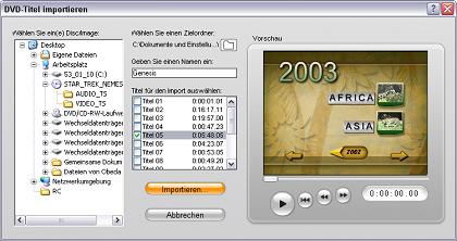 Pinnacle Studio image001 Video von DVD importieren