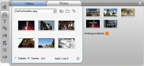 Pinnacle Studio image004 Verwenden von Videothemen
