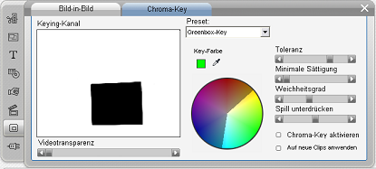 Pinnacle Studio image003 Das Chroma Key Tool