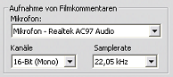 Pinnacle Studio image003 Video  und Audio Voreinstellungen