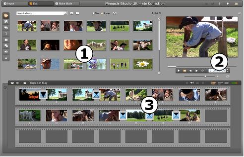 Pinnacle Studio image001 Edit mode