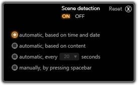Pinnacle Studio image001 The Scene Detection Options window