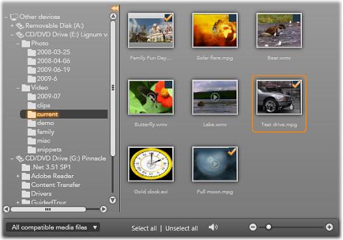 Pinnacle Studio image003 Import from file based media