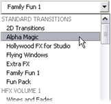 Pinnacle Studio image002 The Transitions section