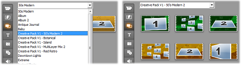 Pinnacle Studio image001 Using themes