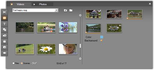 Pinnacle Studio image001 Using the Theme Editor tool