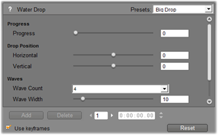 Pinnacle Studio image001 Changing effect parameters