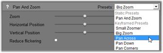 Pinnacle Studio image003 Changing effect parameters