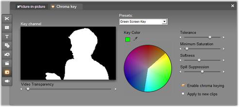 Pinnacle Studio image003 The Chroma key tool