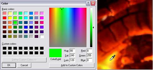 Pinnacle Studio image002 Selecting colors