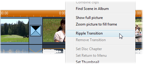 Pinnacle Studio image002 The Ripple Transition command