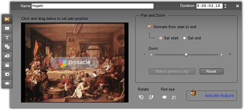Pinnacle Studio image002 Editing image clip properties