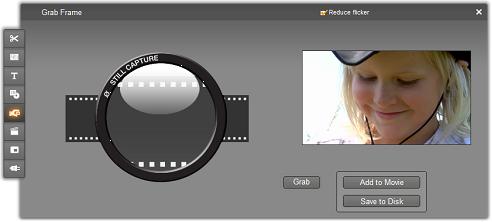 Pinnacle Studio image002 The Frame grabber tool
