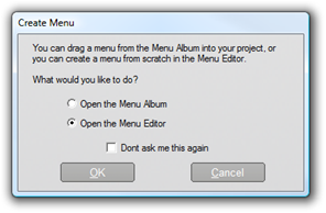 Pinnacle Studio image002 The Disc menu tool