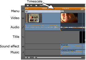 Pinnacle Studio image001 The Timeline audio tracks
